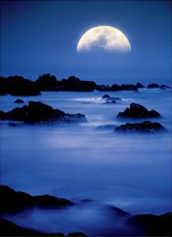 How to Make Moon Incense - Photo of Moon over foggy water.