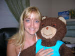 Heather and Bear looking cute